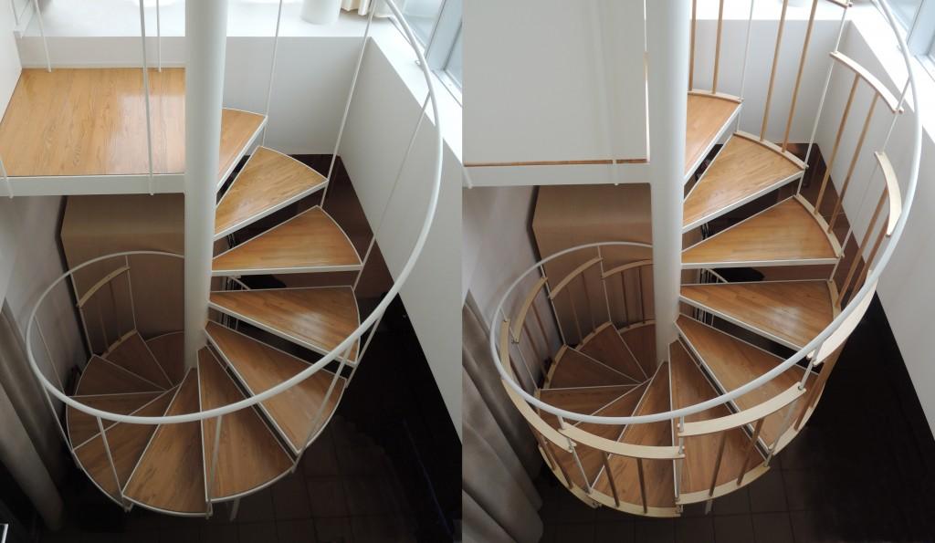 らせん階段手すり